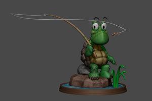 3d 3ds sculpt tartaruga