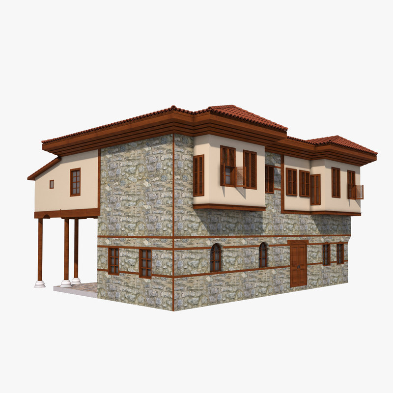 3d traditional ottoman house antalya model