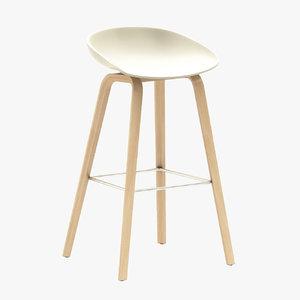 hay aas32 bar stool 3d max