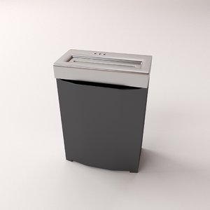3d model paper shredder