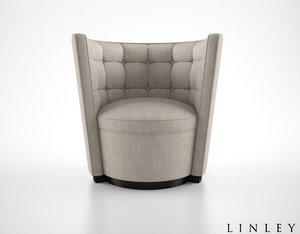 linley deco armchair 3d max
