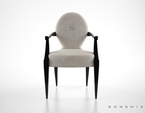 max donghia casper armchair