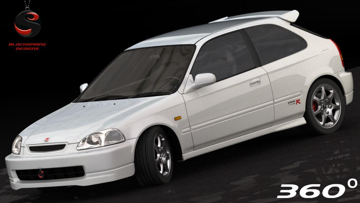 3d honda civic type-r 1997
