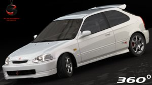 3d honda civic type-r 1997