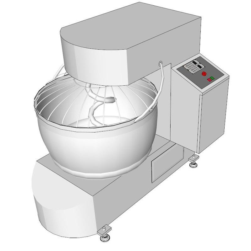 3d spiral dough machine
