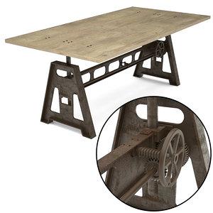 3d gordons adjustable table
