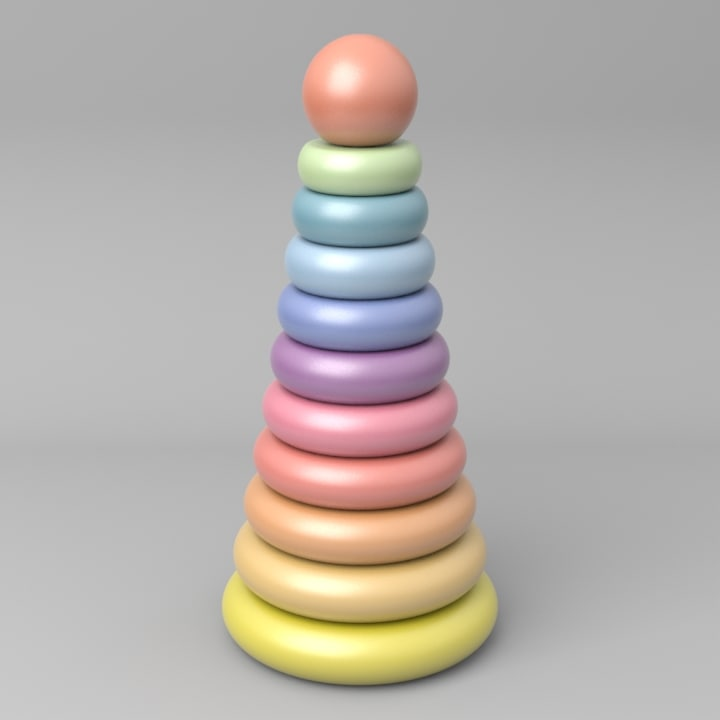 free piramid toy 3d model