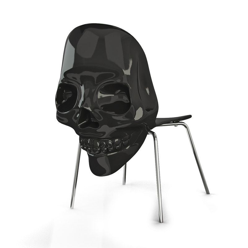 Black skull chair - 3dsmax Black Skull Chair