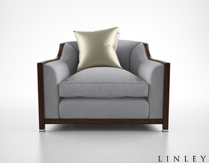 linley grosvenor armchair 3d model
