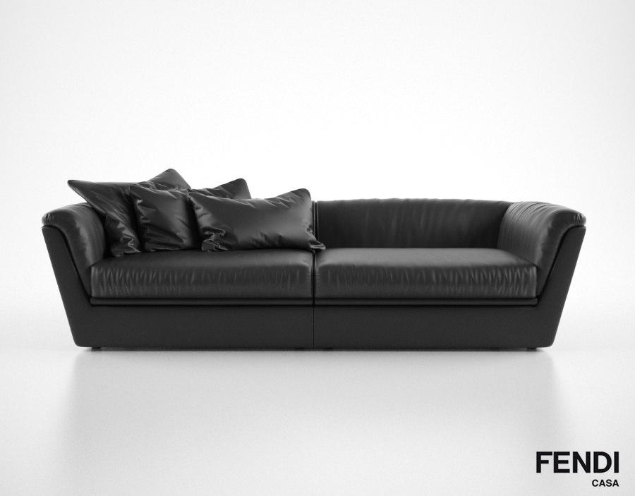 3d fendi casa cocoon sofa model