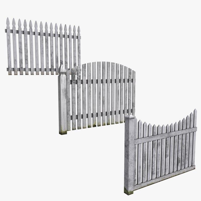 3d model set fences