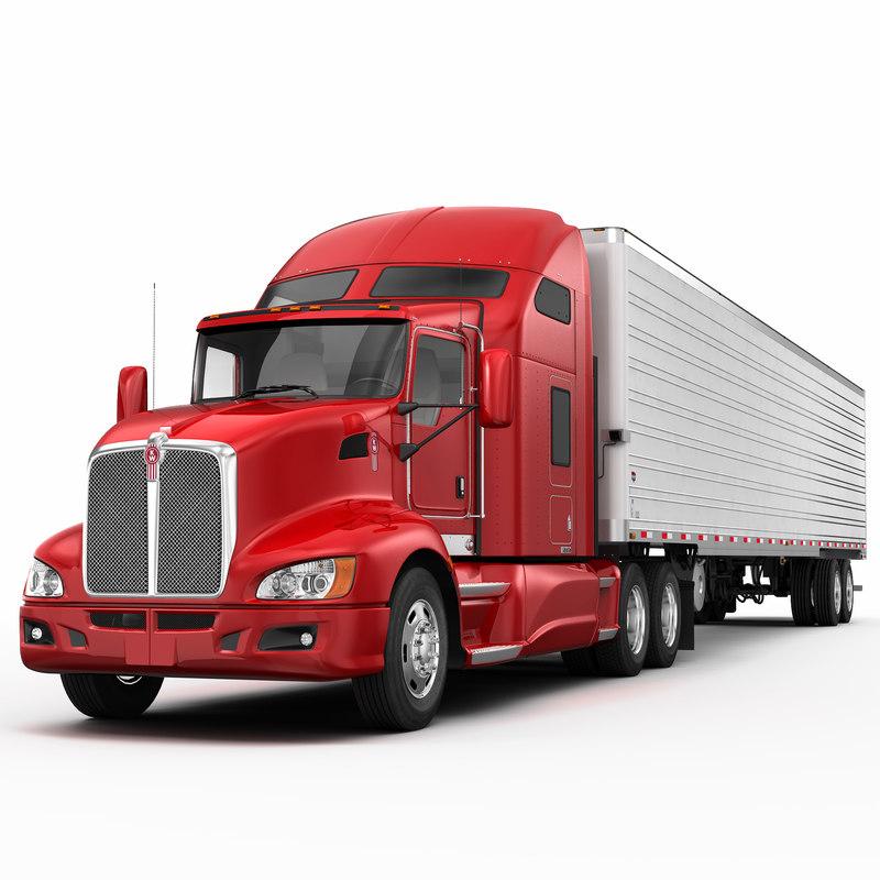 3d model trailer semi 660