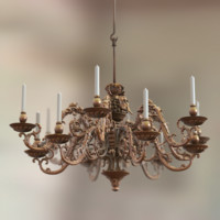 real-time baroque chandelier