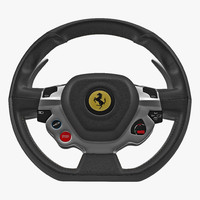ferrari steering wheel 3d max