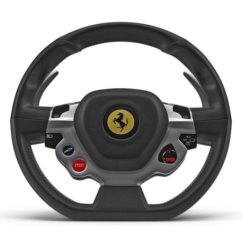 ferrari steering wheel 3d max