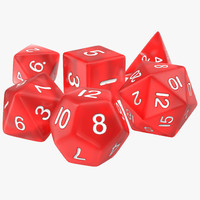 Polyhedral Dice Set Red