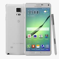 Samsung Galaxy Note 4 White 3D Model