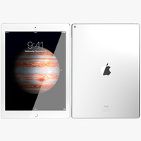 3d realistic apple ipad pro model