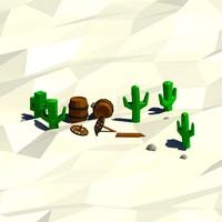 cartoon cactus 3ds