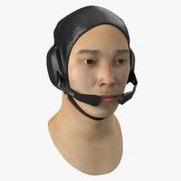 3d chinese pilot head