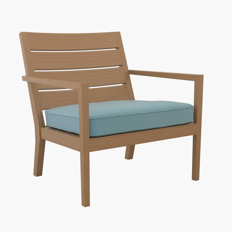 regatta lounge chair cushion 3d 3ds