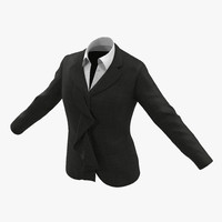 women suit jacket 2 3d model