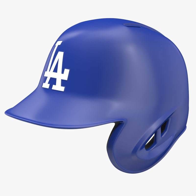 3d model baseball helmet rawlings los angeles
