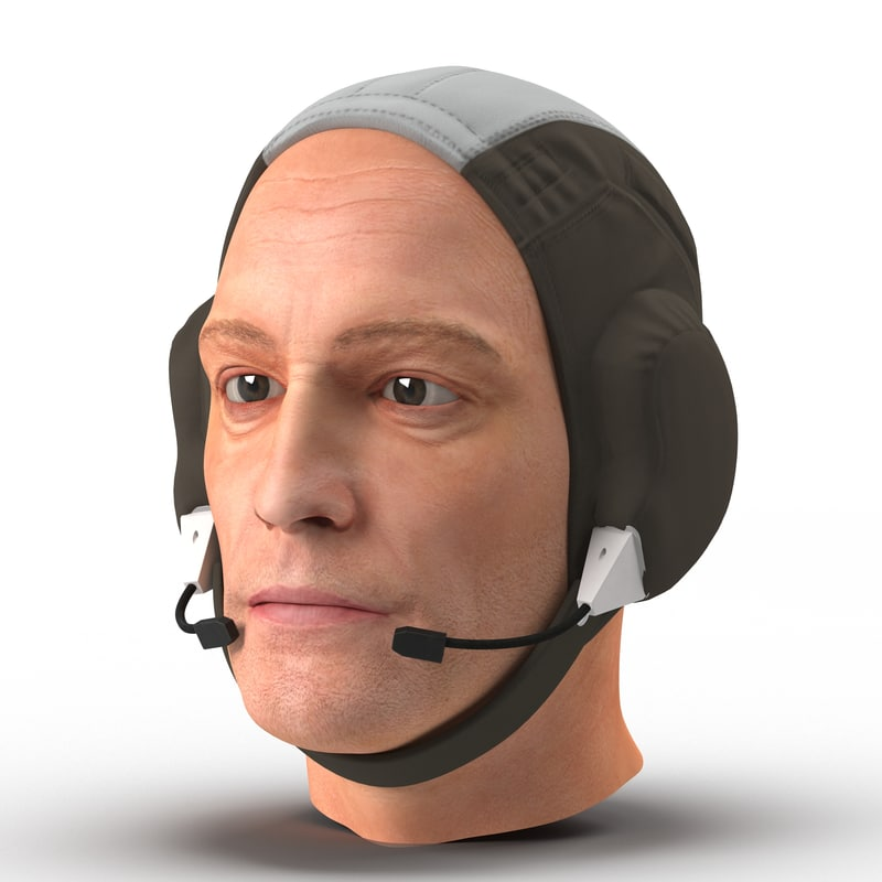 astronaut head 3d model