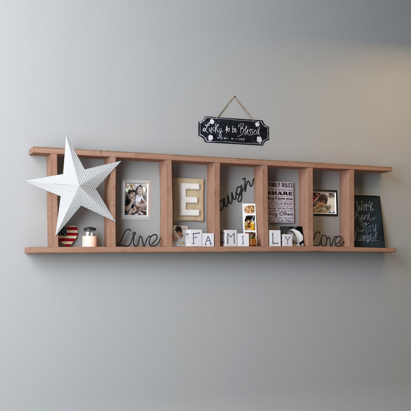 3d model decoration shelf for 3d model decoration