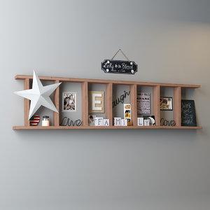 3d model decoration shelf