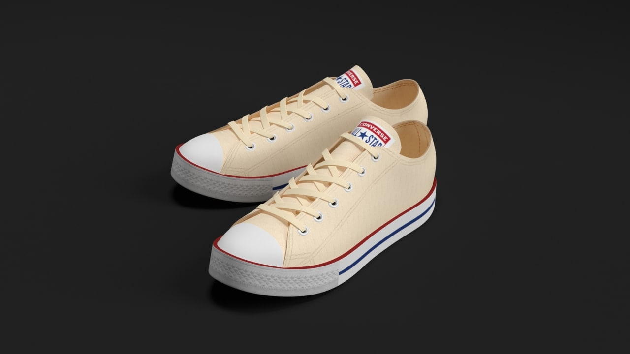 converse star sneakers 3d model