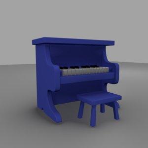 obj piano toy