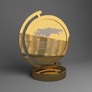 golden cup award 3d model