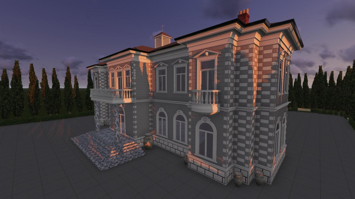 richhouse classical 3d model