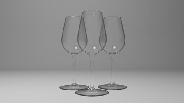 3d x wine glass