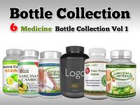6 medicine bottle v1 3d model