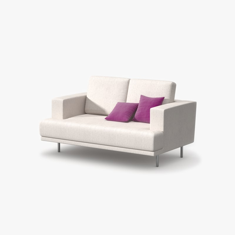 3ds max double sofa fabric