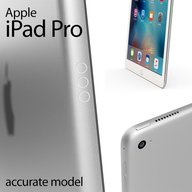 3d model apple ipad pro accurate