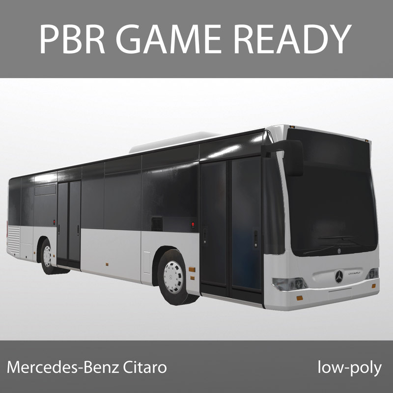 mercedes-benz citaro games pbr 3d model