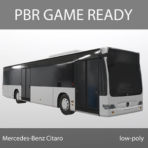 mercedes-benz citaro games pbr 3d model