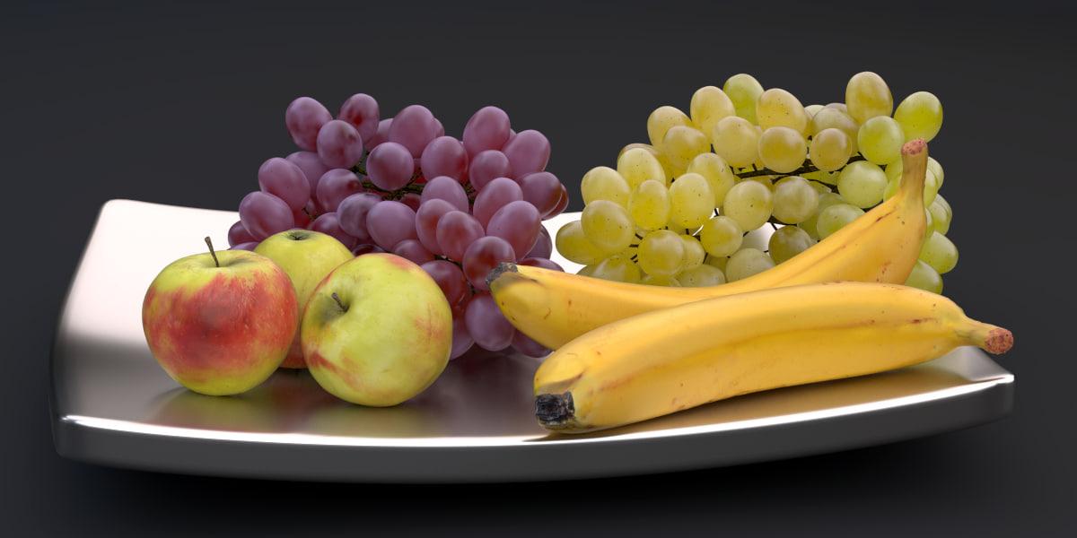 obj fruit bowl