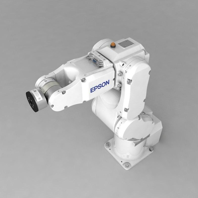 industrial robotic arm epson 3d model
