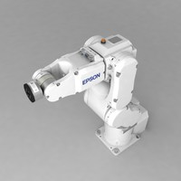 industrial robotic arm epson 3d model