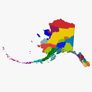 3d county state alaska model