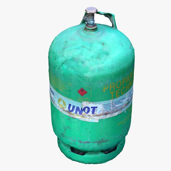 gas cylinder scan 3d model