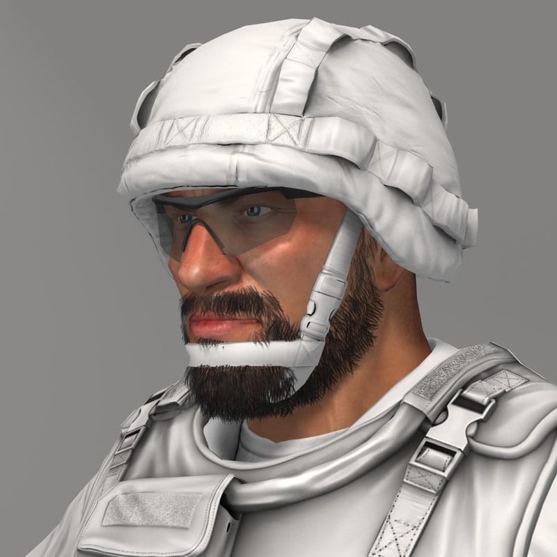 qualitative soldiers bundeswehr 3d model