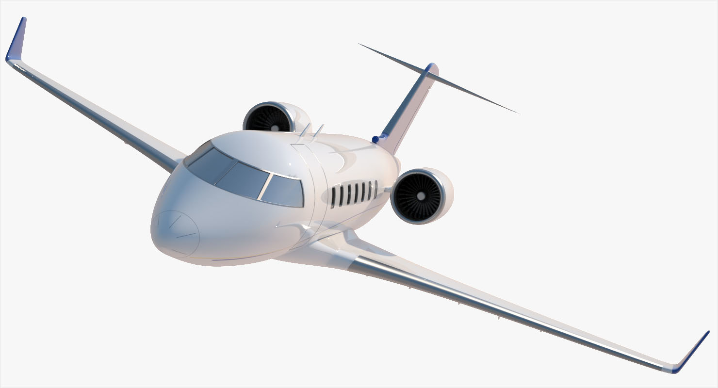 challenger bombardier 605 exterior 3d max