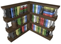 lego corner bookcase 3ds