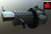 sci-fi rifle 1 3d model