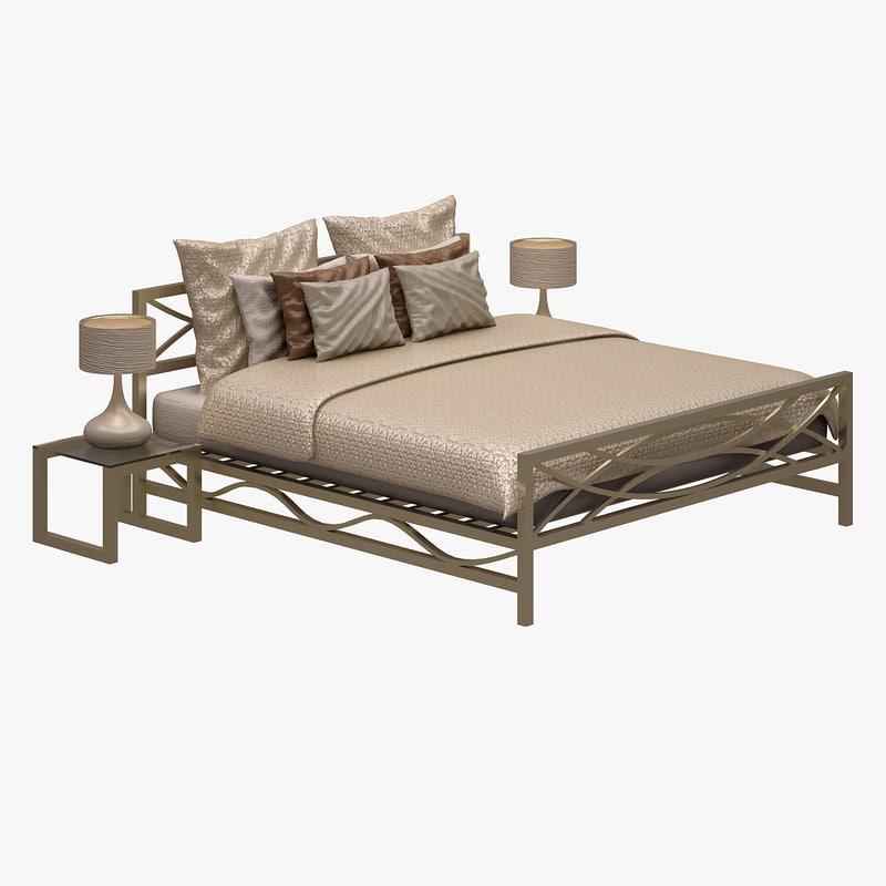 bed set 3d max
